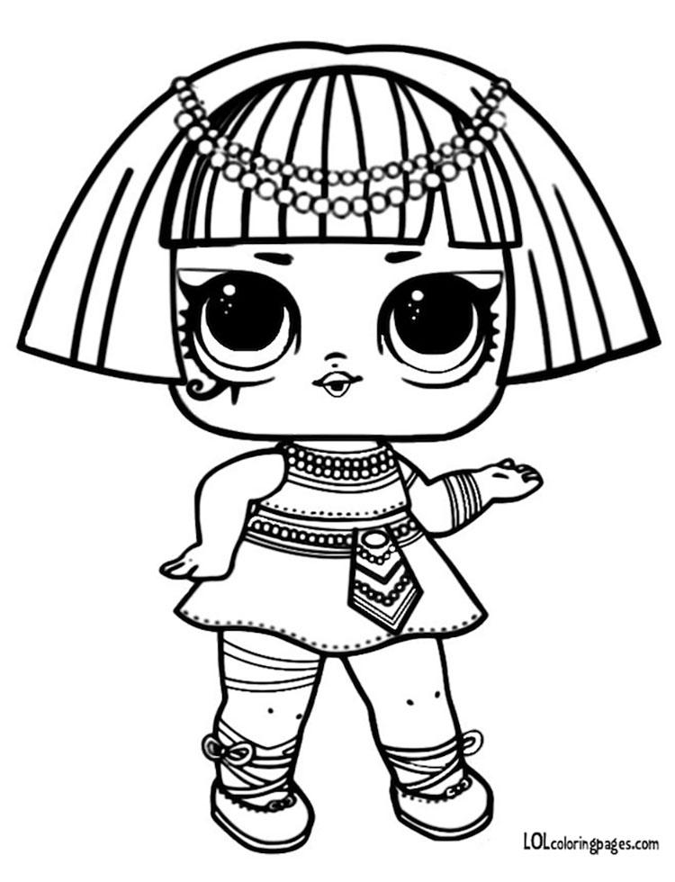 750x980 Pharaoh Babe L O L Surprise Coloring Page Lol Surprise Doll