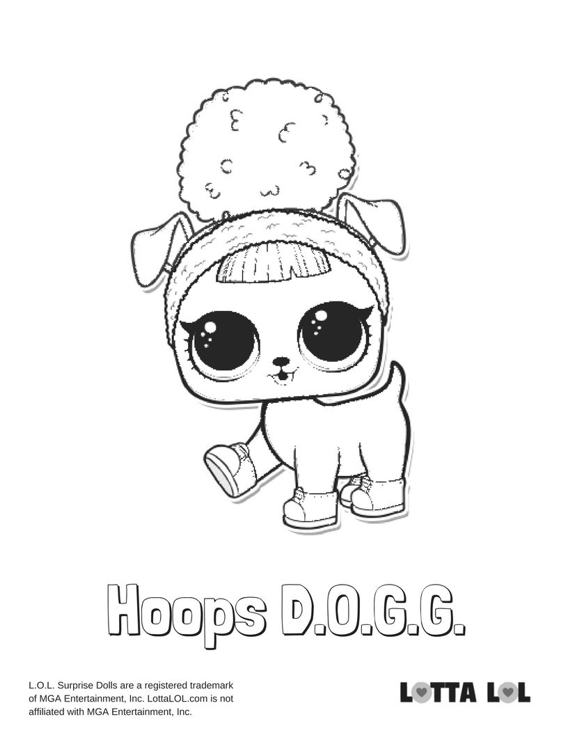 816x1056 Hoops Dogg Lol Surprise Doll Coloring Page Dibu Y