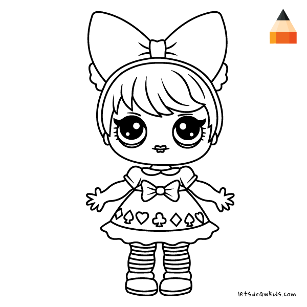 600x600 How To Draw Lol Surprise Doll Curious Qt