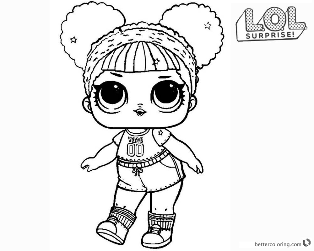 1000x800 Lol Surprise Doll Coloring Pages Hoops Mvp Glitter