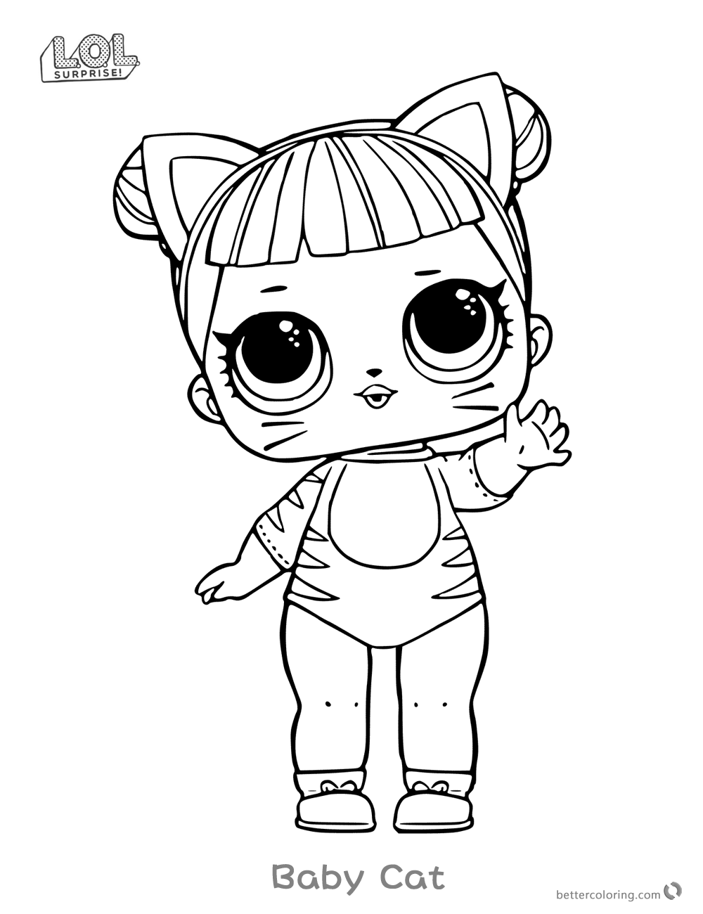 1000x1300 Lol Surprise Doll Coloring Pages Series Baby Cat