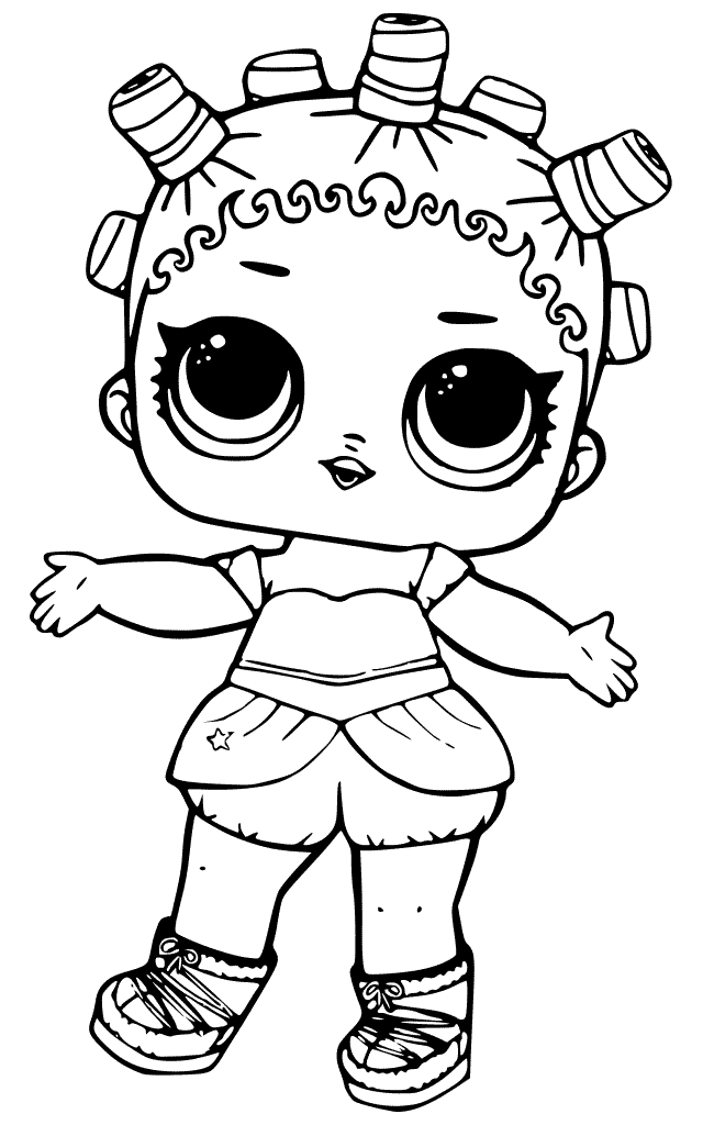 640x1024 Printable Lol Surprise Doll Coloring Pages Cosmic Queen Lol