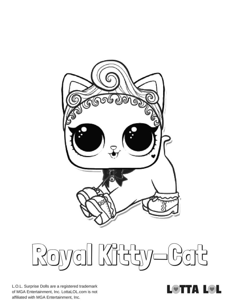 816x1056 Royal Kitty Cat Lol Surprise Doll Coloring Page