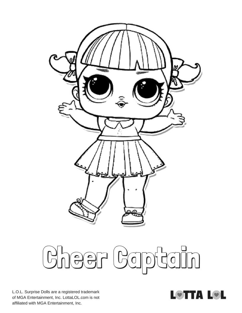 816x1056 Cheer Captain Lol Surprise Doll Coloring Page