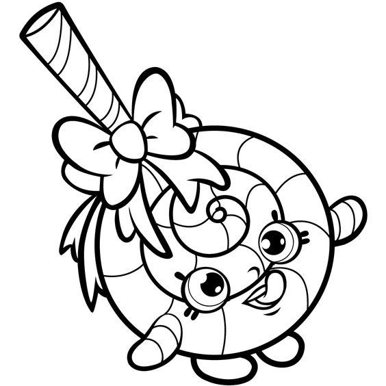 564x564 Lollipop Shopkin Free Coloring Page Kids, Shopkins Coloring Pages