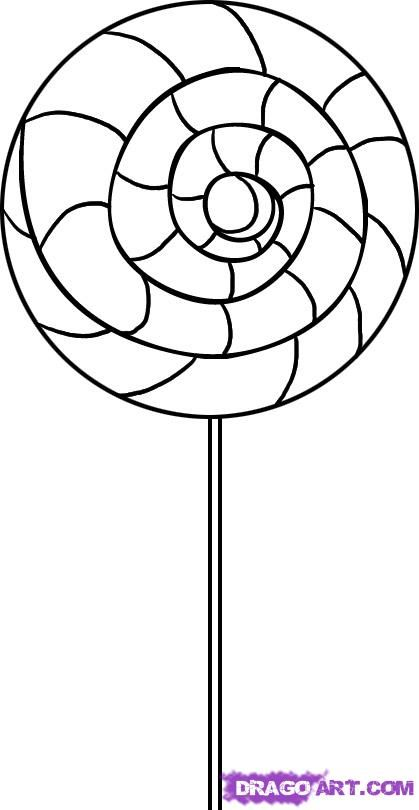 419x810 Swirl Lollipop Coloring Page Projects To Try Swirl