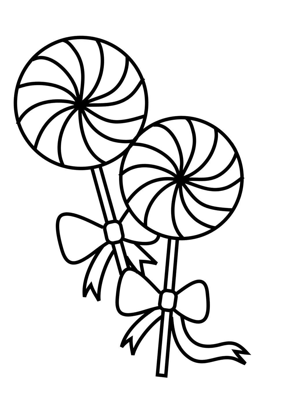 1024x1380 Two Lollipop Coloring Page Coloring Pages Para El