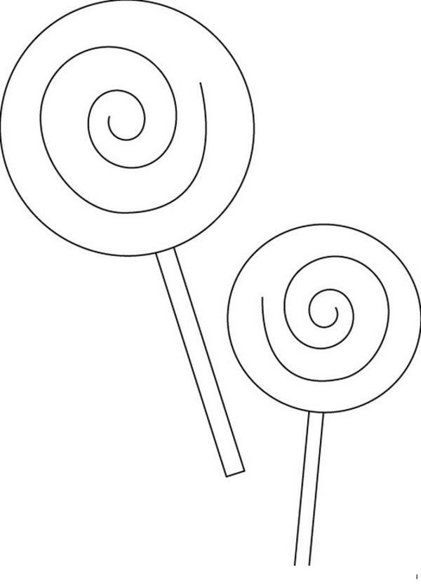 600x834 Candy Coloring Pages