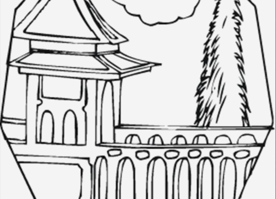 London Bridge Coloring Page