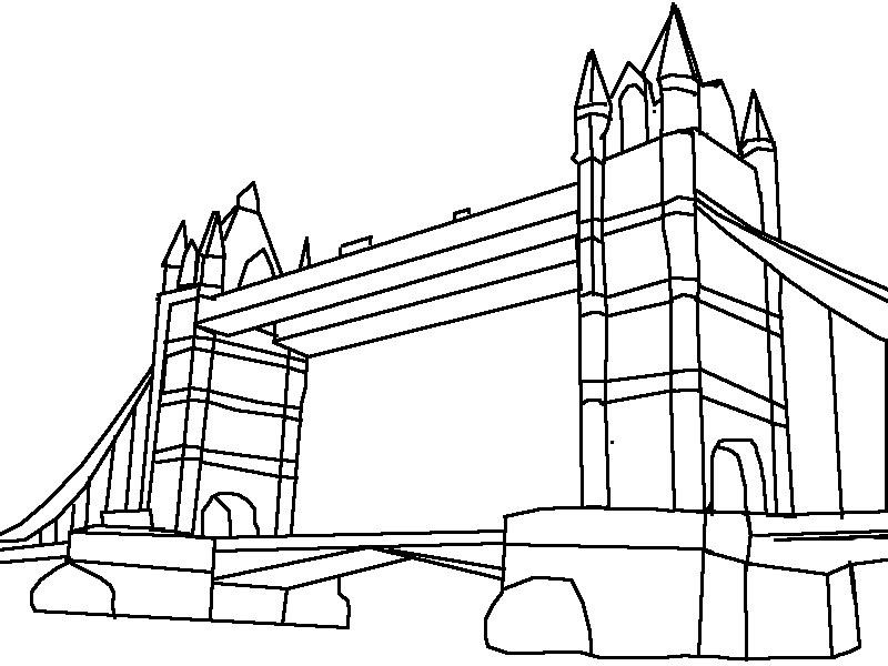 800x600 London Bridge Drawing Step
