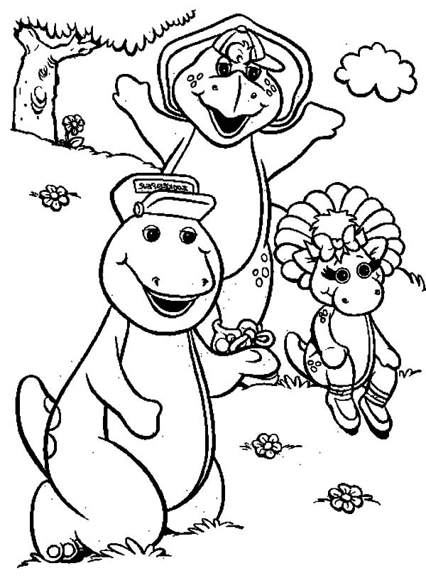 600x827 Barney And Friends Coloring Pages Best Place To Color