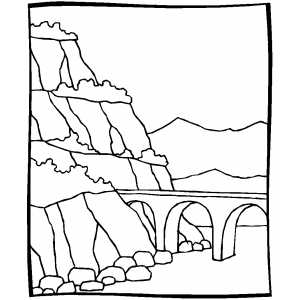 300x300 Stone Bridge Coloring Page