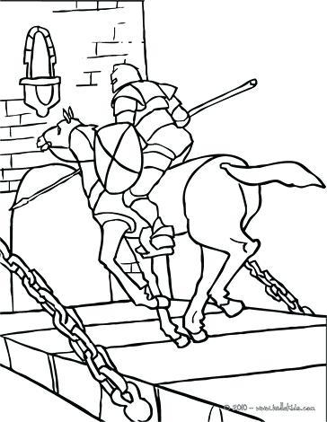 364x470 Bridge Coloring Page Bridge Knight On Horseback Running