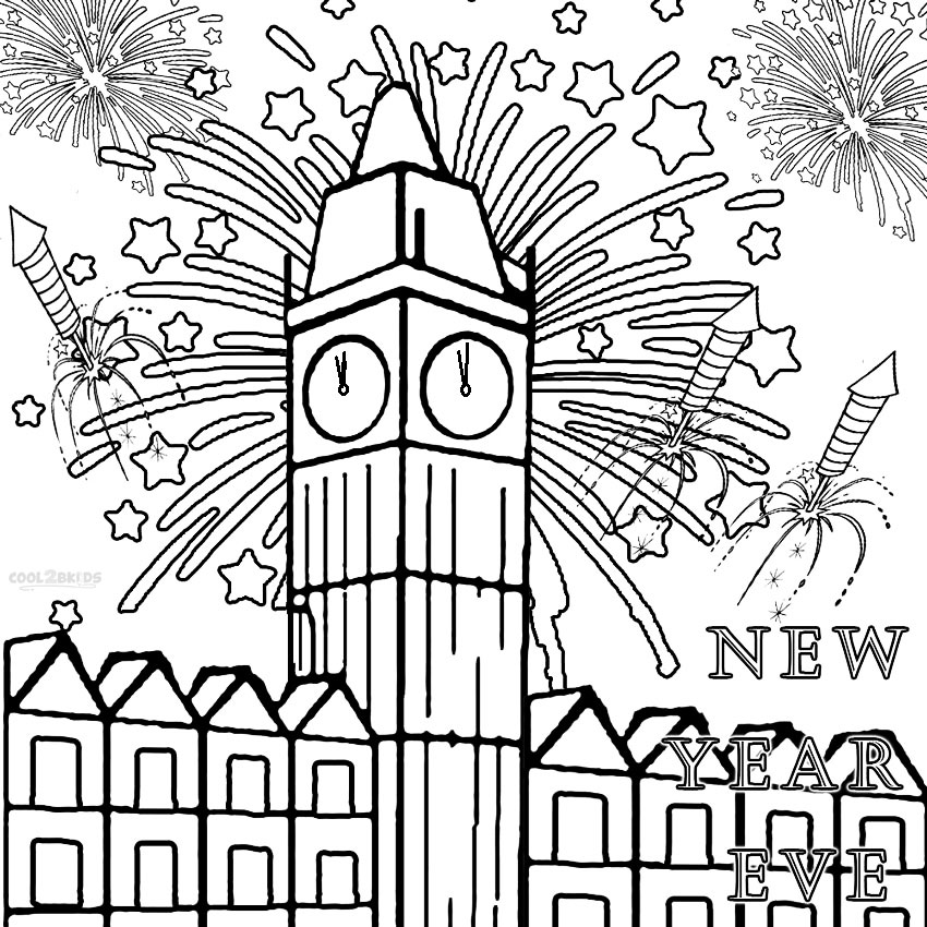 850x850 Fireworks Coloring Pages