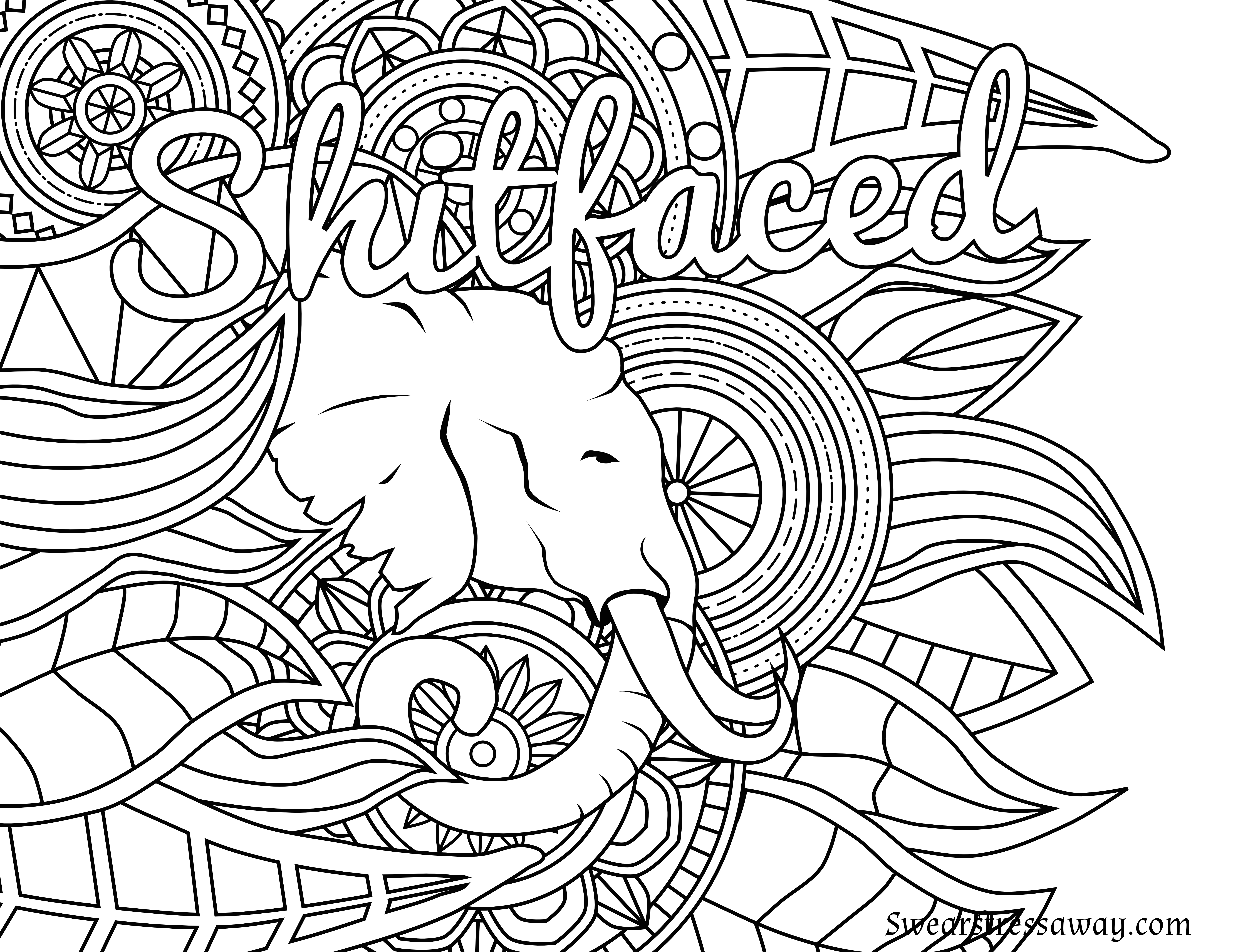 6900x5328 Amazing Free Printable Coloring Pages For Adults Only Swear Words