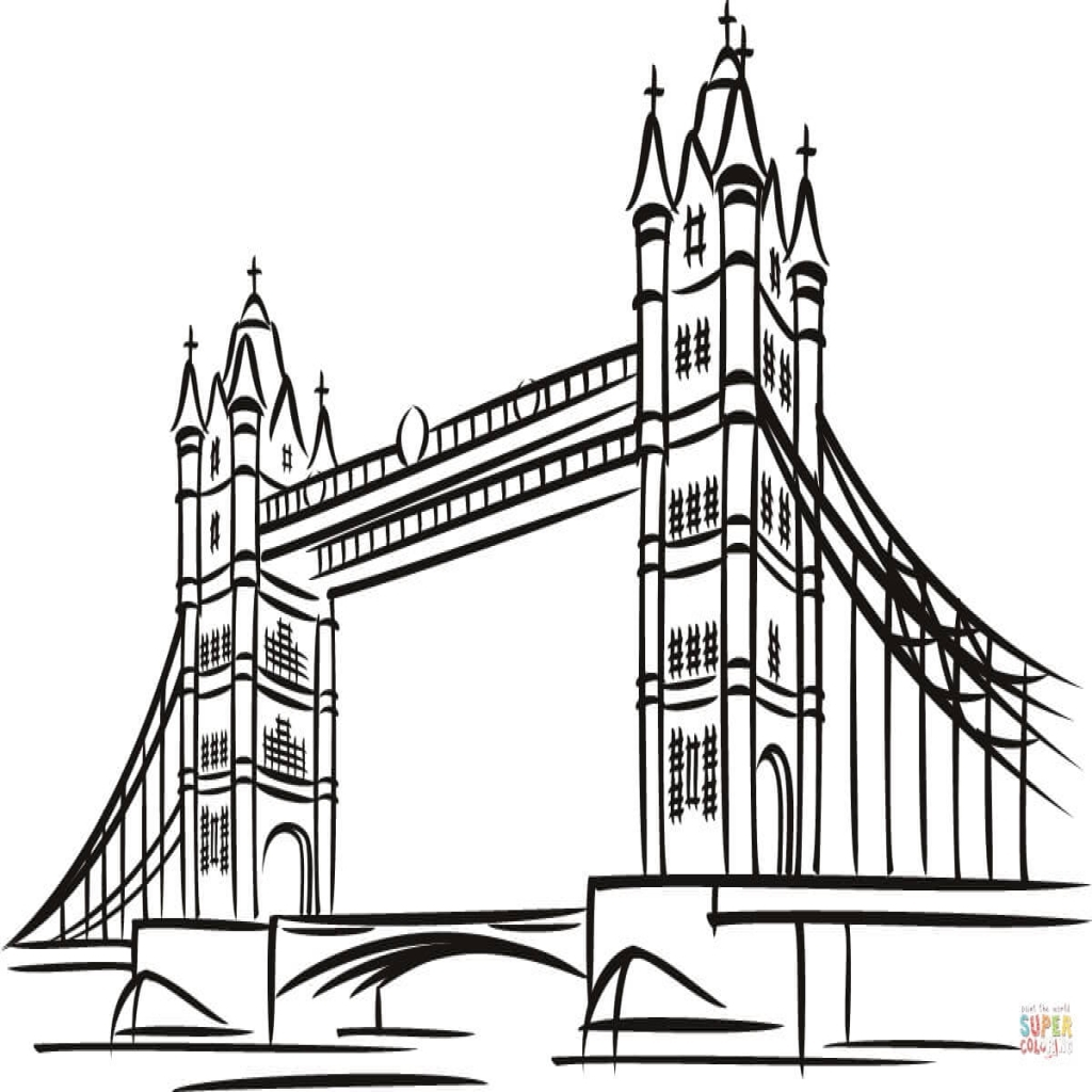 1024x1024 Tower Bridge In London Coloring Page Free Printable Coloring Pages