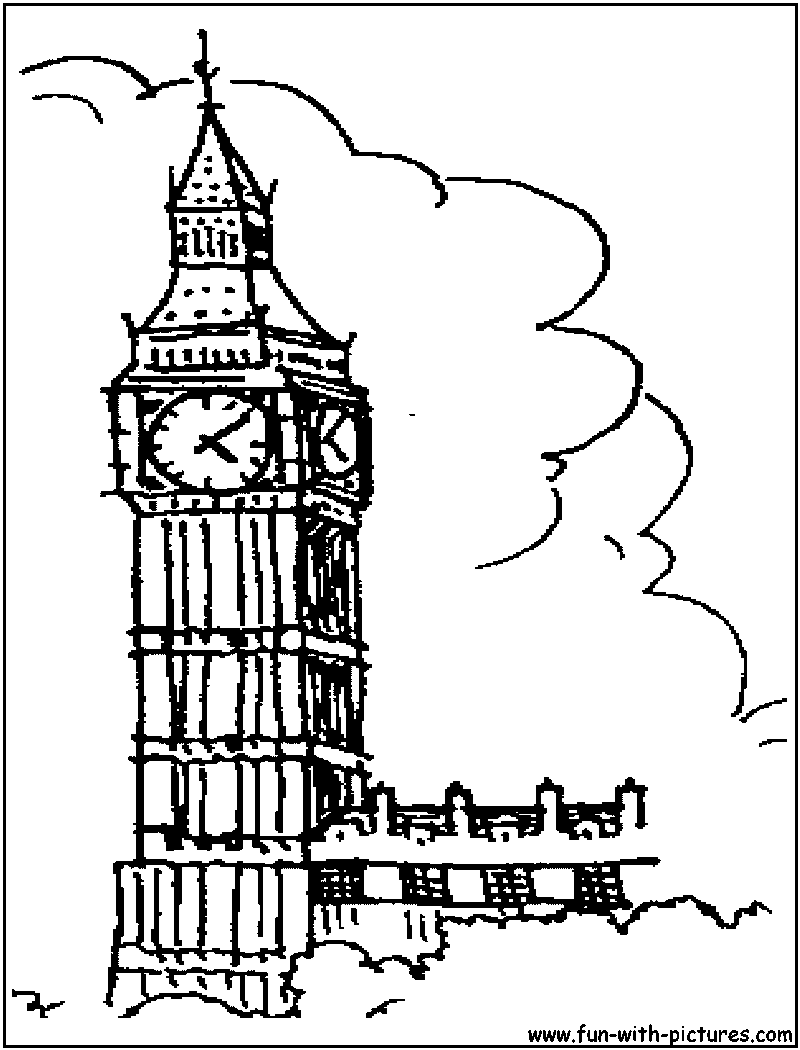 800x1050 Big Ben In London Coloring Pages Big Ben And Big