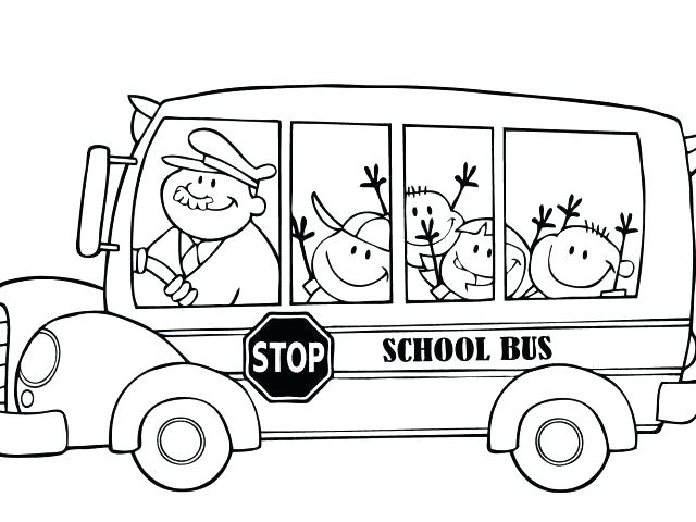640x480 Bus Colouring In School Bus Coloring Pages For Boys Download