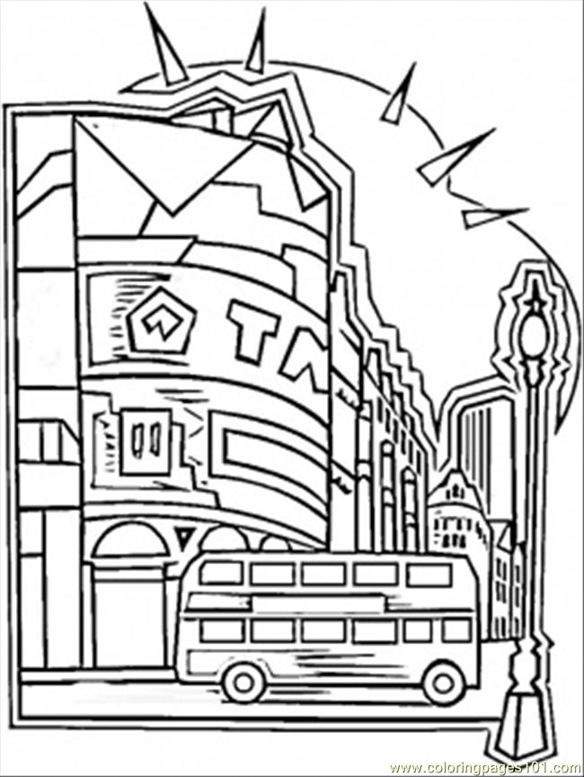 650x865 Center Of London Coloring Page