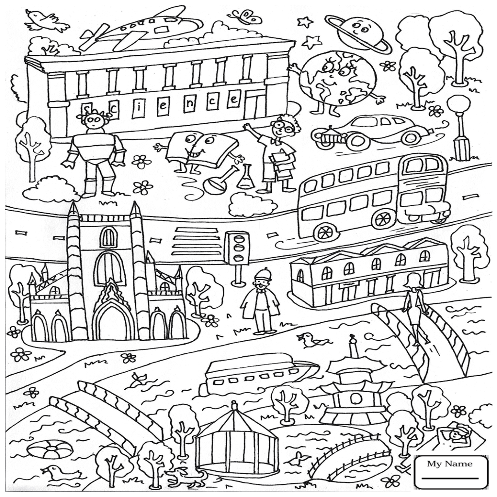 1024x1024 Arts Culture London Doodle Architecture Coloring Pages
