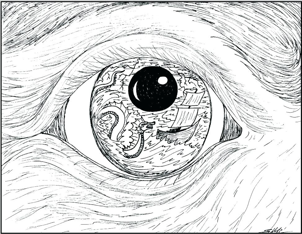 974x753 Eyeball Coloring Page Eye Coloring Pages Eye Coloring Page Animal
