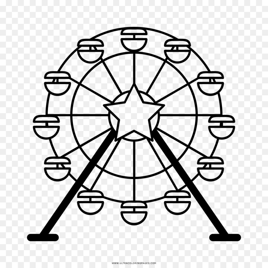 900x900 Ferris Wheel Drawing London Eye Clip Art