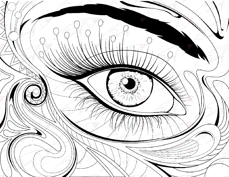 874x676 Eye Coloring Page Printable Coloring Page