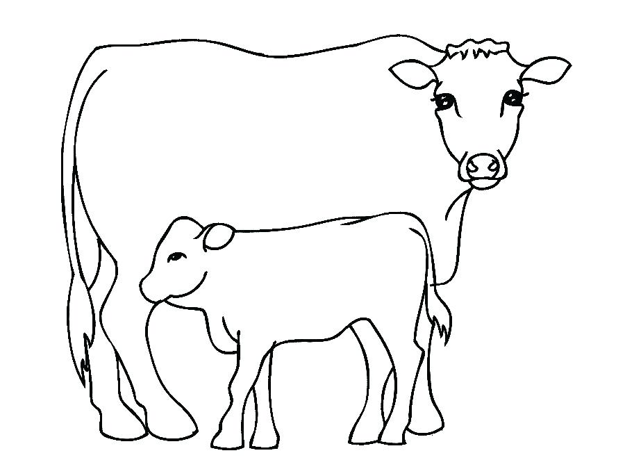 900x675 Printable Coloring Pages For Easter Eggs Cattle Cow Is Animals