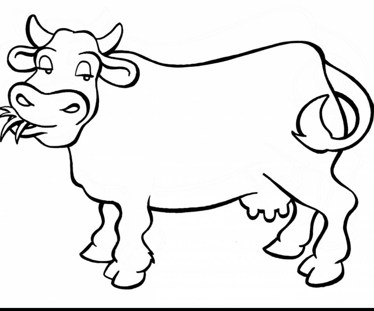 1224x1019 Cow Coloring Page Free Printable Impressive Pages For Kids Cowboy