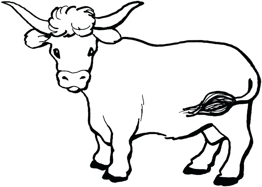 1024x733 Cow Coloring Pages Top Free Page Online Christmas Murs
