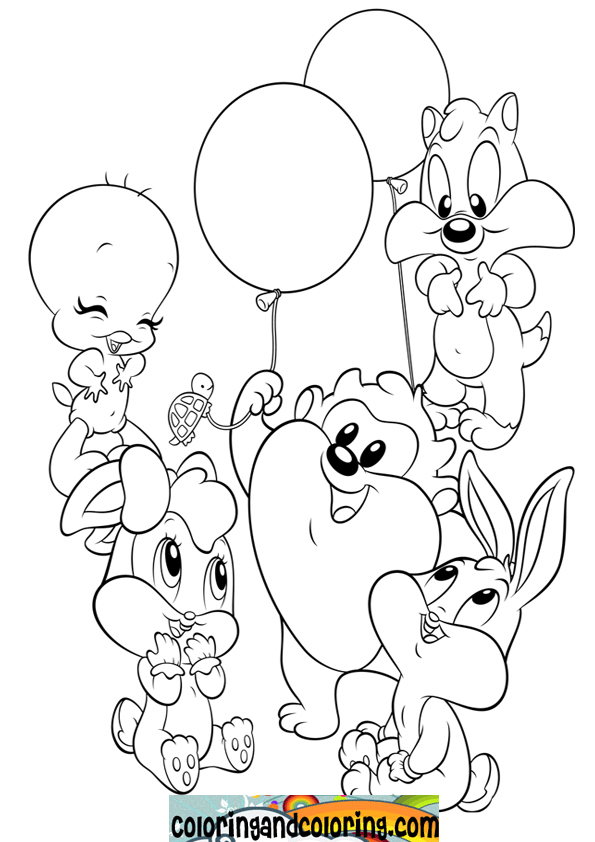 Looney Tunes Taz Coloring Pages