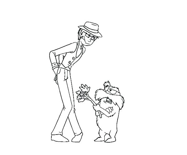 600x500 Lorax Coloring Pages Coloring Page The Arguing With The Once