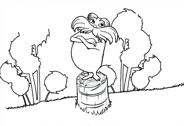 768x525 Lorax Coloring Pages Free Printable Coloring Pages Lorax Coloring