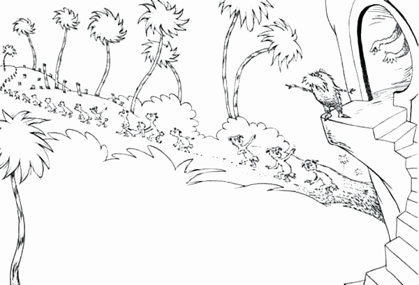 600x408 Lorax Coloring Pages Image Lorax Coloring Page Truffula Trees