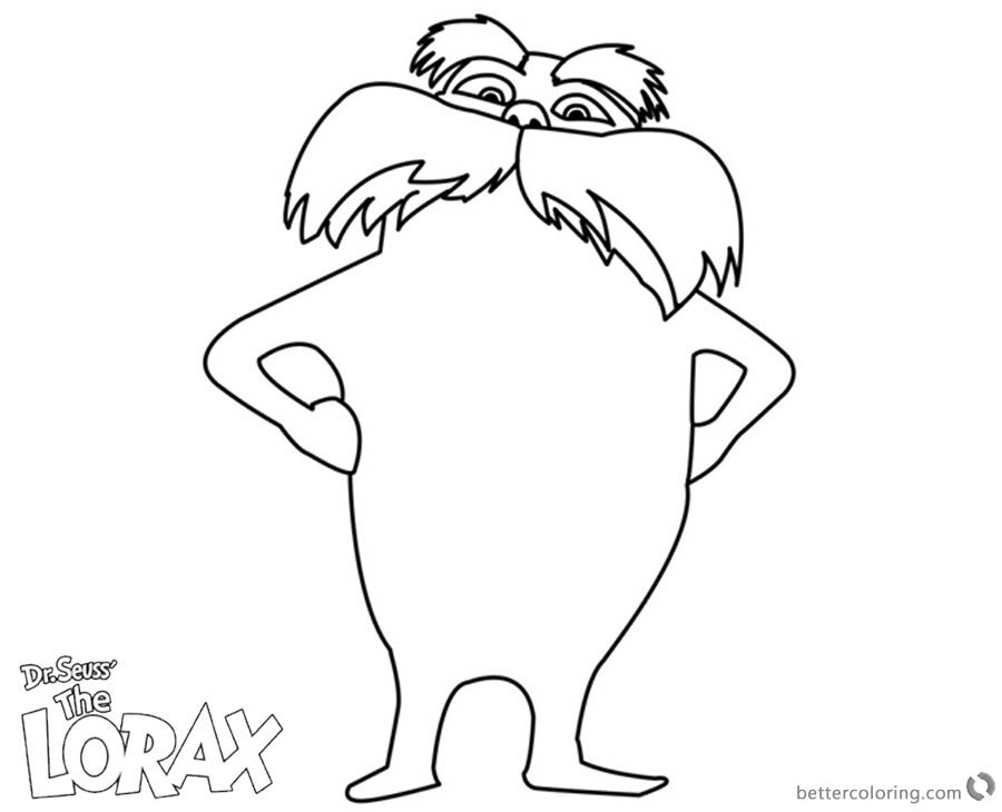 900x730 Lorax Coloring Pages Line Art