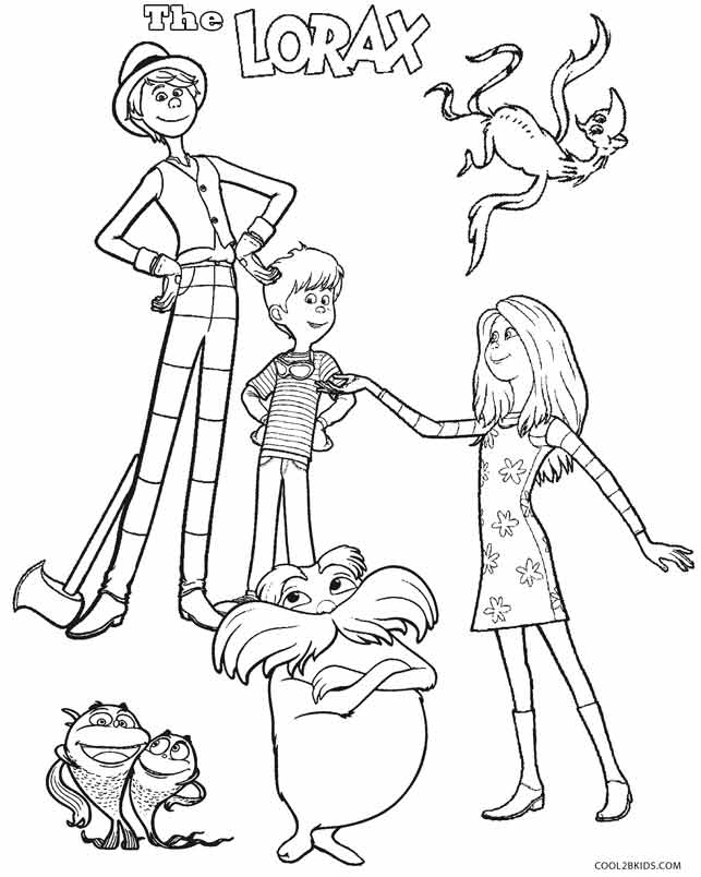 643x804 The Lorax Characters Coloring Pages
