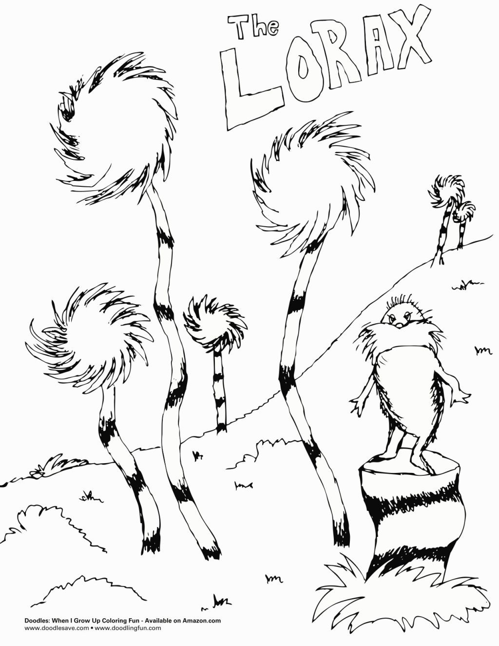 1024x1325 The Lorax Coloring Pages Coloring Pages