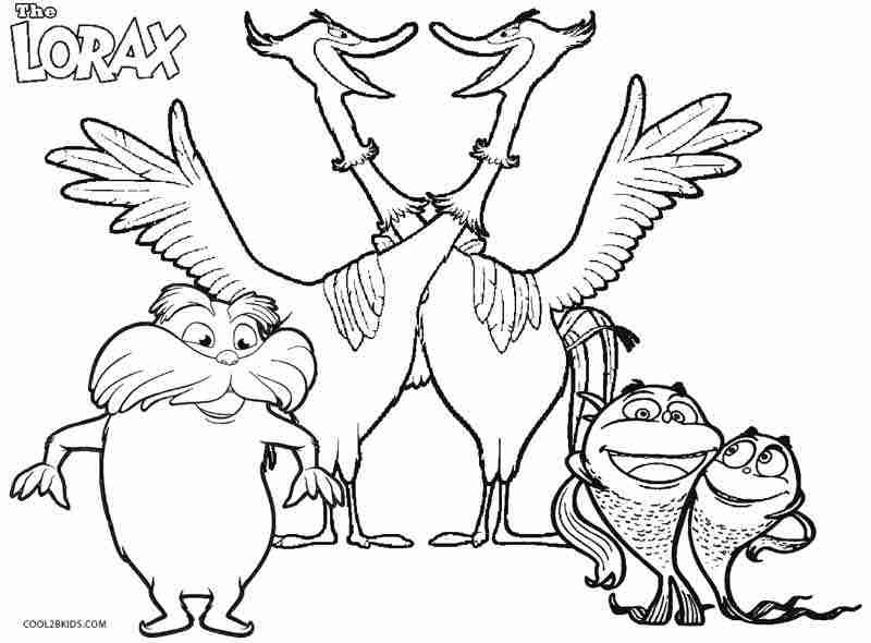 800x590 The Lorax Coloring Pages Olegratiy