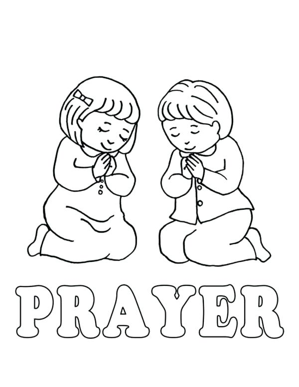 600x777 Awesome Prayer Coloring Pages To Print Or Learn To Lords Prayer