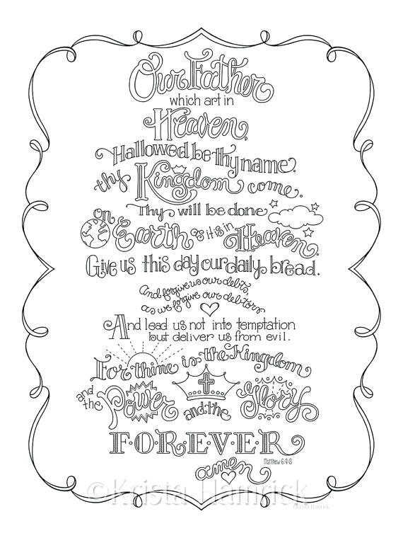570x760 Prayer Coloring Pages The Lords Prayer Coloring Page In Three
