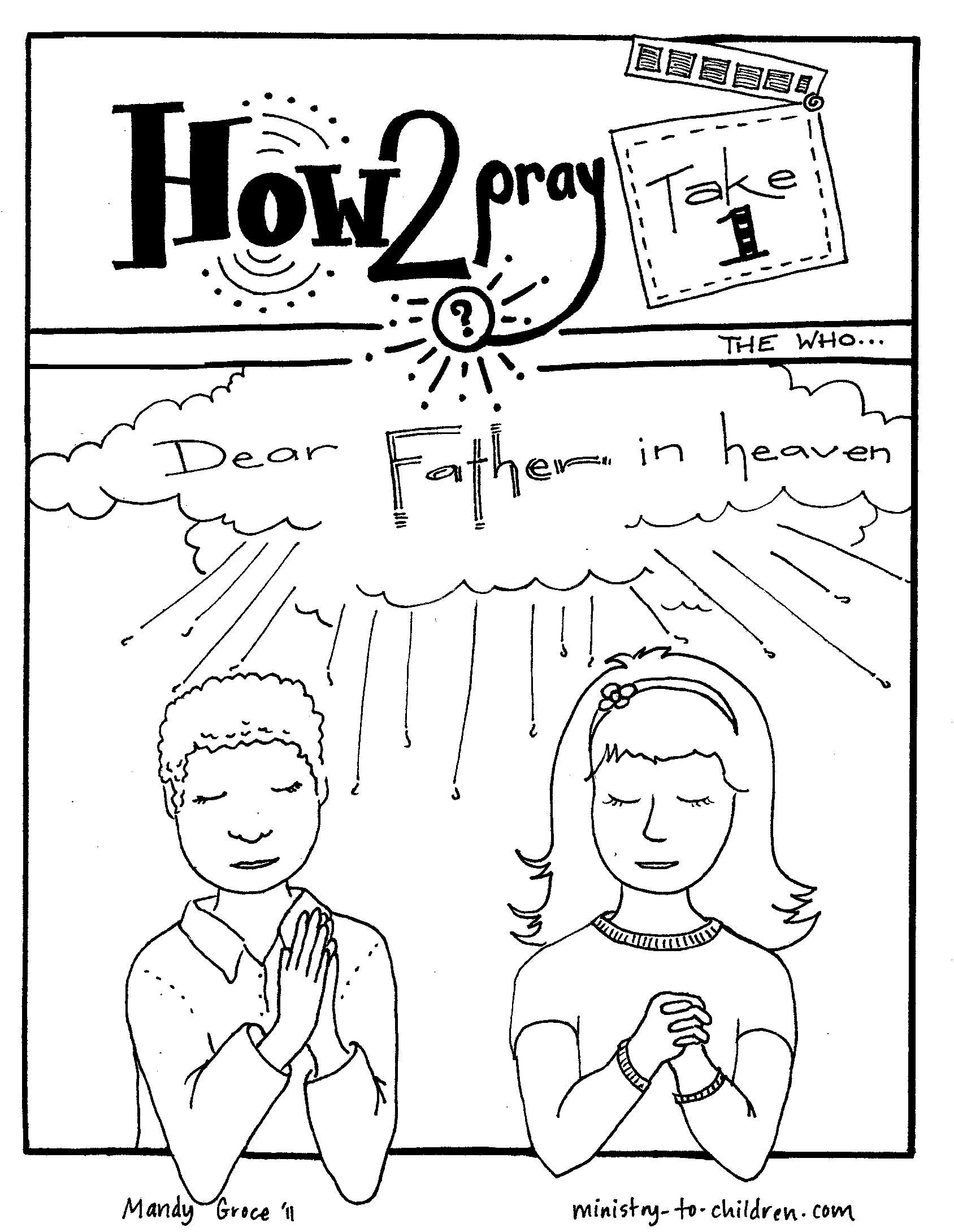 1688x2180 The Lords Prayer Coloring Pages