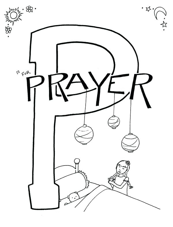 600x787 Prayer Coloring Pages For Kids Free Printable Pictures Print
