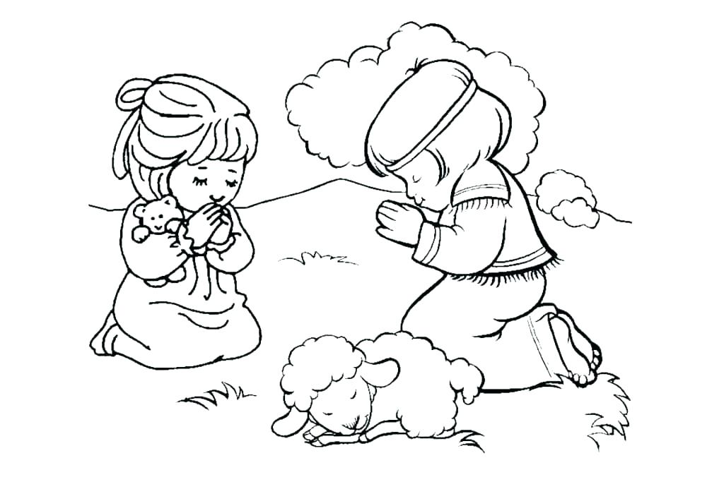 1024x683 Coloring Pages On Prayer Bible Coloring Pages The Lords Prayer