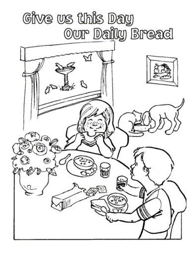 396x512 Free Lord's Prayer Coloring Pages For Children And Parents Free