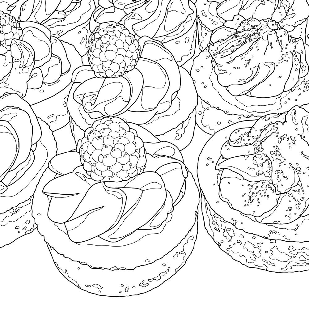 1000x1000 Detail Of Coloring Page For Adults