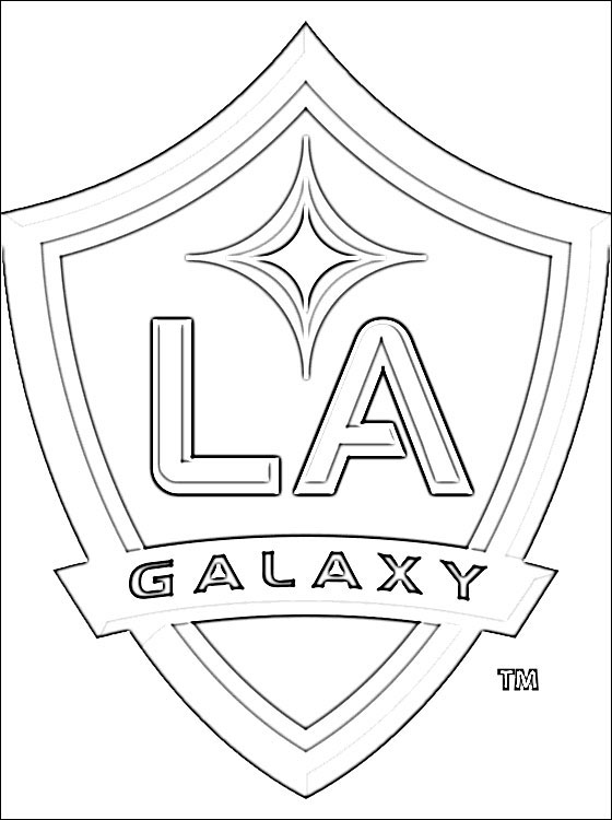 560x750 Logo Of Los Angeles Galaxy Football Team Coloring Pages