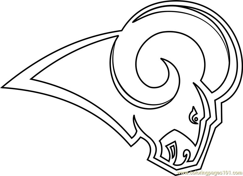 799x578 Los Angeles Rams Logo Coloring Page
