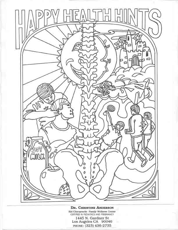 612x792 Chiropractic Coloring Pages For Kids