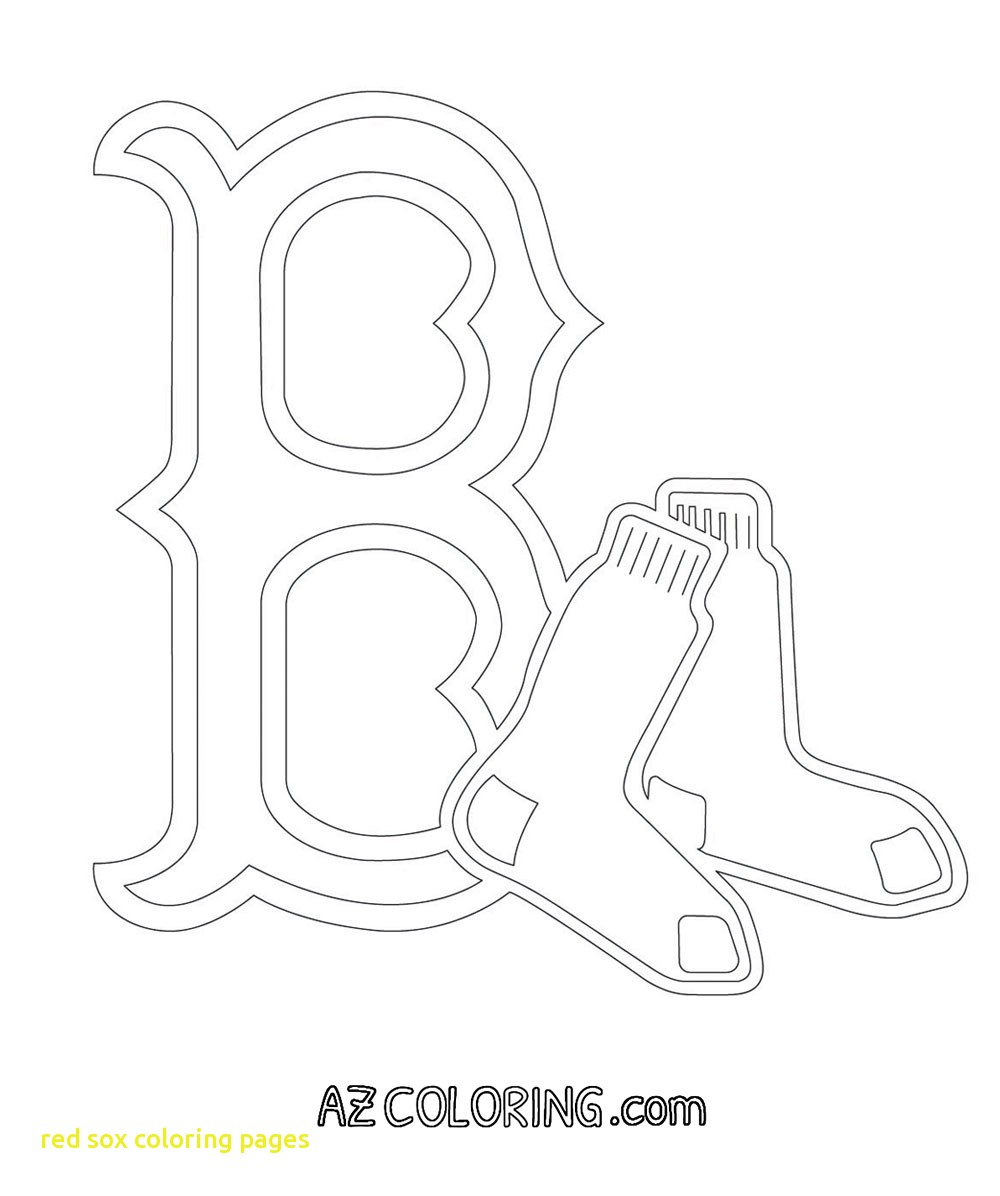 1000x1196 Coloring Page Red Sox Pages Logo Within