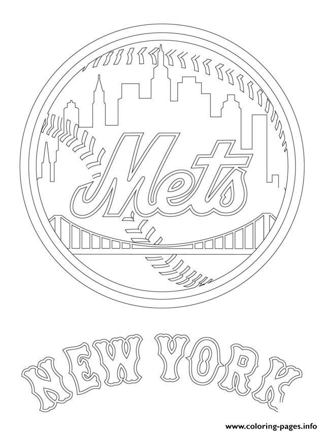 640x853 New York Mets Logo Mlb Baseball Sport Coloring Pages Printable